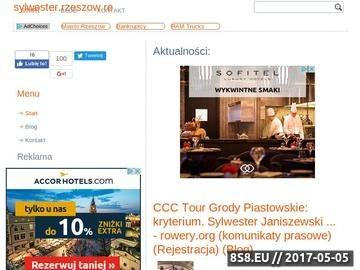 Zrzut strony Oferty sylwestrowe z Rzeszowa