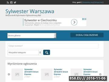 Zrzut strony Sylwester Warszawa - Bal Sylwestrowy