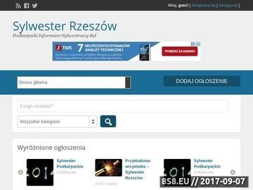 Zrzut strony Sylwester Rzeszów - Oferty Sylwestrowe