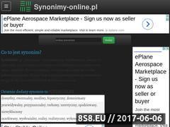 Miniaturka domeny www.synonimy-online.pl