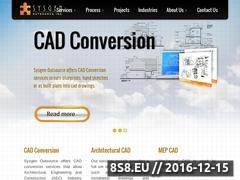 Thumbnail of Outsourcing CAD Engineering Services Website