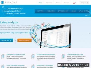Zrzut strony Internetowy system obsługi eventów