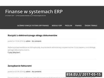 Zrzut strony Moduły ERP