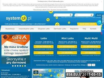 Zrzut strony Lotto przez Internet