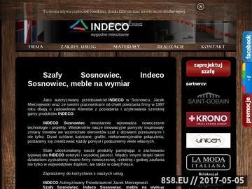 Zrzut strony Indeco Sosnowiec, meble na wymiar Indeco - Przedstawiciel Jacek Mierzejewski