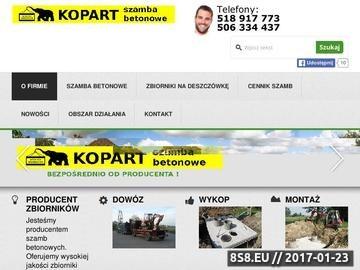 Zrzut strony Najlepsze szamba i zbiorniki betonowe - producent ogólnopolski