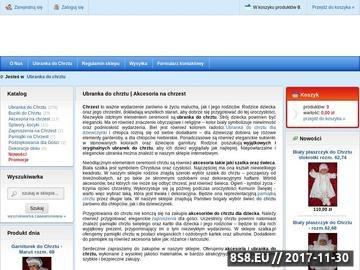 Zrzut strony Szatka.pl - Ubranka do chrztu
