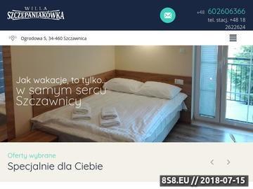 Zrzut strony Willa Szczepaniakówka Szczawnica