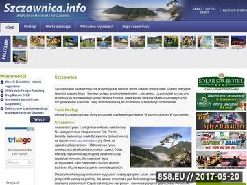 Zrzut strony Szczawnica baza noclegowa