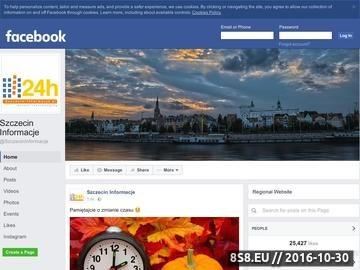 Zrzut strony Wiadomości oraz ogłoszenia z miasta Szczecin