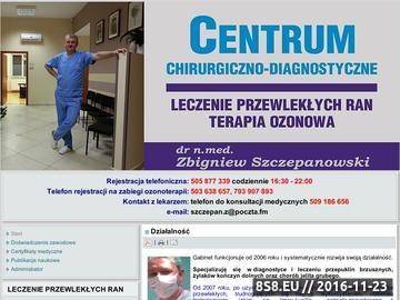 Zrzut strony Specjalistyczny Gabinet Diagnostyczno-Chirurgiczny Leczenie Przewlekłych Ran