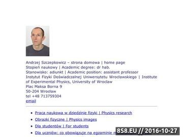 Zrzut strony Narysuj mi fizykę. Kursy i korepetycje do matury we Wrocławiu.
