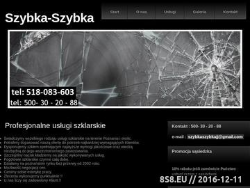 Zrzut strony Usługi Szklarskie