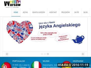 Zrzut strony Kursy językowe grupowe, indywidualne i dla firm od A1 do C2