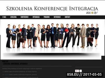 Zrzut strony Szkolenia, konferencje, integracja - Wake Up