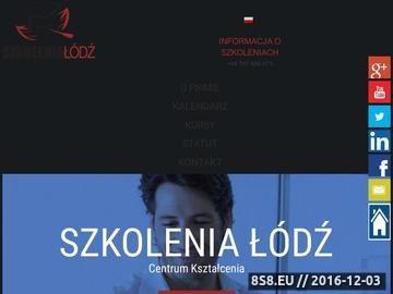 Zrzut strony Szkolenia Łódź - firma szkoleniowa