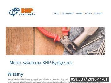 Zrzut strony Szkolenia BHP