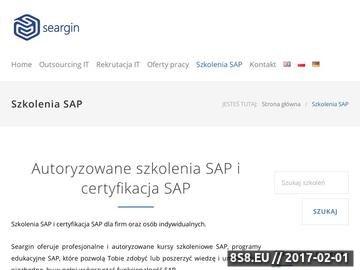 Zrzut strony Szkolenia SAP