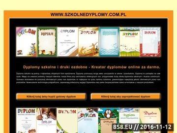 Zrzut strony Dyplomy konkursowe, dyplomy sportowe i druki ozdobne