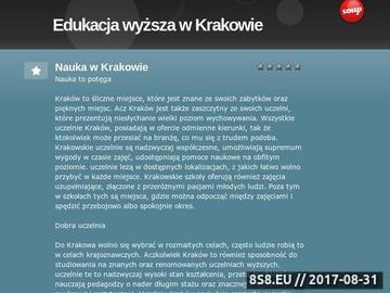 Zrzut strony Uczelnie Kraków