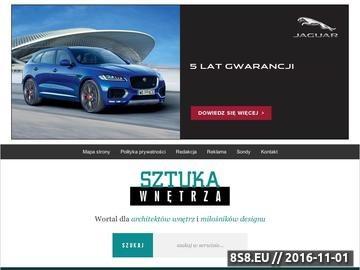 Zrzut strony Portal dla architektów wnętrz oraz designerów.