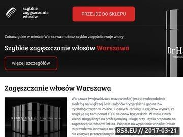 Zrzut strony Zagęszczanie włosów Warszawa