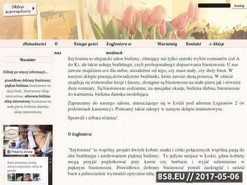 Zrzut strony Prawidłowo dobrany biustonosz dla miłośniczek bielizny w sklepie Szyfoniera.