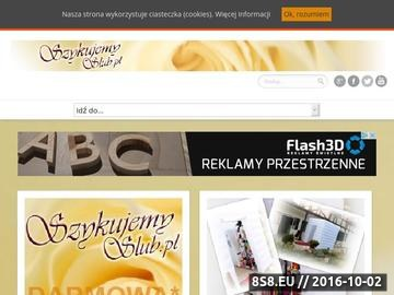 Zrzut strony Ślub i wesele - portal ślubny Szykujemy ślub