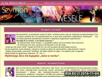 Zrzut strony DJ Kielce - Szymon