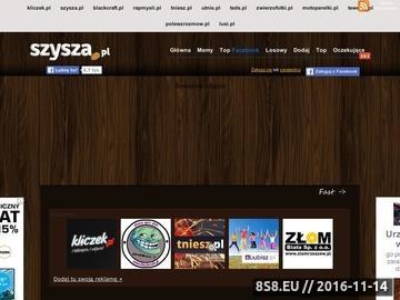 Zrzut strony Szysza.pl