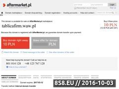 Miniaturka domeny tablicafirm.waw.pl
