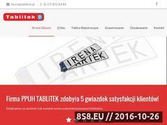 Miniaturka Firma oferuje tabliczki znamionowe i tablice (www.tablitek.pl)