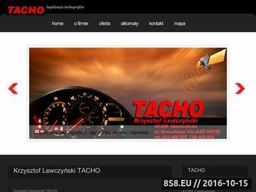 Zrzut strony TACHO tachografy cyfrowe