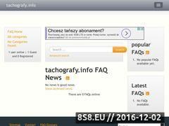 Miniaturka domeny www.tachografy.info