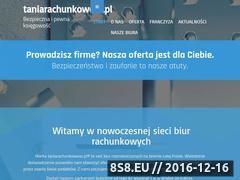 Miniaturka domeny taniarachunkowosc.pl