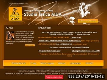 Zrzut strony AIDA Studio Tańca