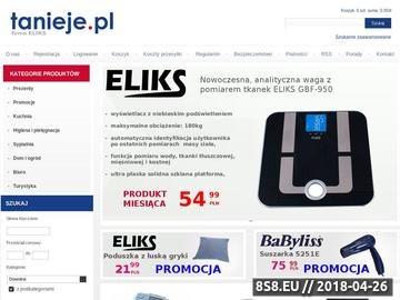 Zrzut strony Sklep internetowy AGD, RTV - Tanieje.pl