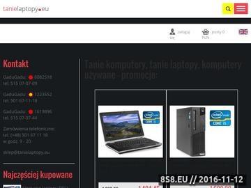 Zrzut strony Tanie laptopy używane
