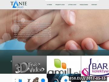 Zrzut strony Firma oferuje usługi projektowania logo