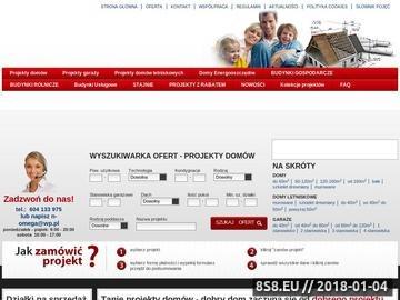 Zrzut strony Tanieprojektydomow.com.pl - projekty domów i mieszkań