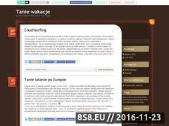 Miniaturka domeny taniewakacje.blog.pl