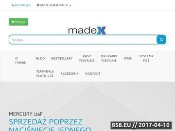 Zrzut strony Firma Madex - kasy fiskalne