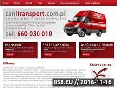 Miniaturka domeny tanitransport.com.pl