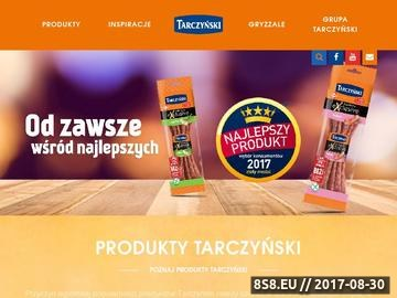 Zrzut strony Tarczyński S.A. - producent tradycyjnych wędlin