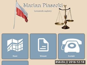 Zrzut strony Marian Piasecki komornik sądowy licytacje nieruchoomości