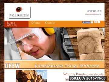 Zrzut strony Skład drewna Paldrew