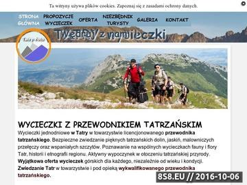Zrzut strony Oferujemy wycieczki w towarzystwie przewodnika tatrzańskiego