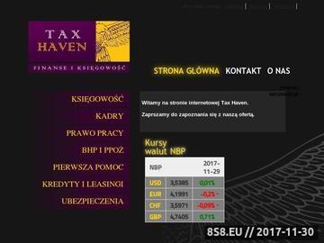 Zrzut strony TAX-HAVEN księgowość