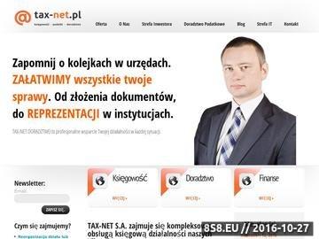 Zrzut strony Doradztwo podatkowe TAX-NET