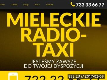 Zrzut strony Przewóz osób, na ternie miasta Mielec poprzez samochody taxi